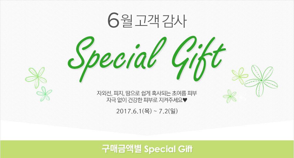 6월 고객감사 special gift 2017년 6월 1일 ~ 7월 2일