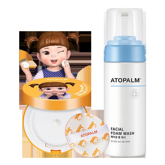 아토팜 톡톡 페이셜 콩순이 선팩트 (SPF43 PA+++)&페이셜 폼 워시