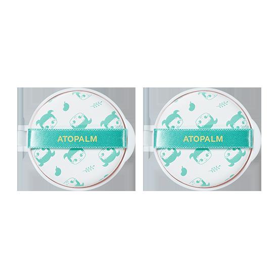 아토팜 그린 릴리프 선쿠션 리필 더블세트 (SPF43 PA+++)