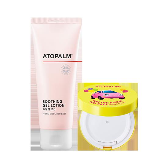 아토팜 수딩 젤 로션&톡톡 페이셜 선팩트(SPF43 PA+++) 세트