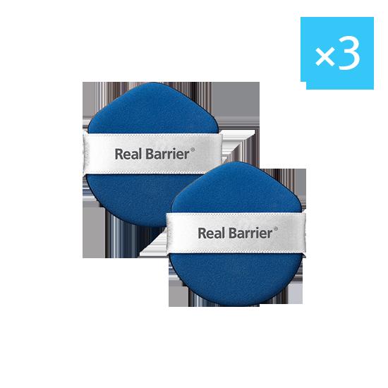 리얼베리어 쿠션 퍼프 (2개입)×3개 세트