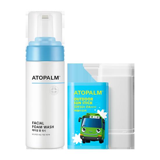 아토팜 페이셜 폼 워시&야외놀이 선스틱 (SPF50+ PA++++) 세트