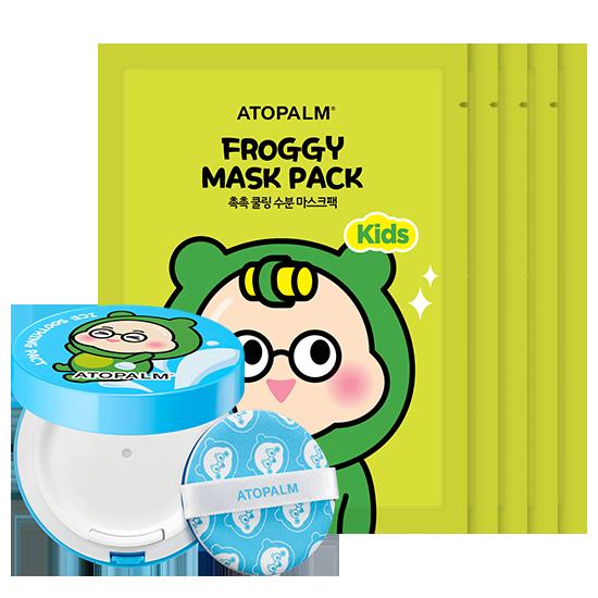 아토팜 키즈 아이스 수딩 팩트&프로기 마스크팩 5매 세트