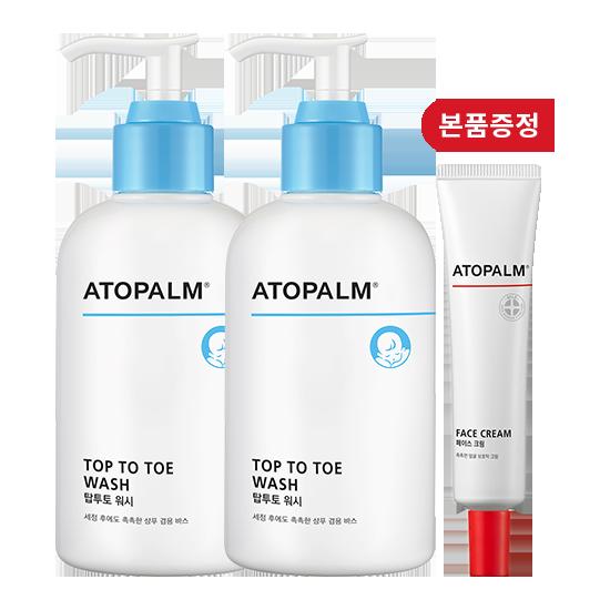 [브랜드세일][1+1] 아토팜 탑투토 워시 300ml+페이스 크림 본품 증정