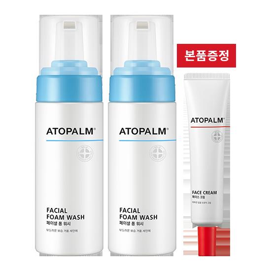 [브랜드세일][1+1] 아토팜 페이셜 폼 워시(대용량)+페이스 크림 본품 증정