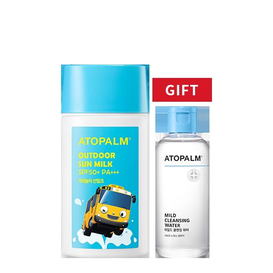 [브랜드세일] 아토팜 야외놀이 선밀크 기획 (SPF50+ PA+++)+클렌징 워터 100ml 증정