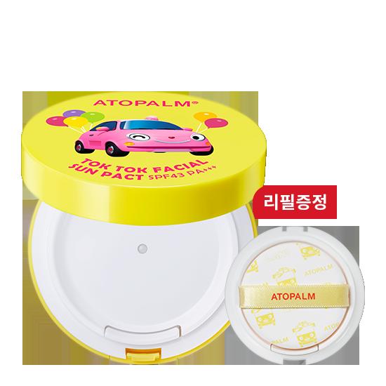 [브랜드세일] 아토팜 톡톡 페이셜 선팩트 (SPF43 PA+++)+리필 증정