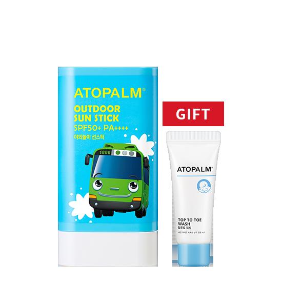 [브랜드세일] 아토팜 야외놀이 선스틱 (SPF50+ PA++++)+탑투토 워시 20ml 증정